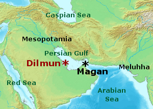 2 - pristine Dilmun, the land given by Enki to his daughter Ninsikila, the daughter of Enki & Ninhursag via Uttu, as her own domain, Enki brought water to the lands in preparations for her arrival