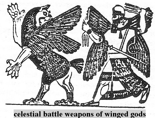 2b - Anzu & war, artefact from Ninurta's Palace in Nimrud, Nimrud & all its artefacts were destroyed by Radical Islam, foolishly thinking they can hide & destroy knowledge of the alien gods, evidence that directly contradicts the power-brokers of Islam, fearing loss of their credibility