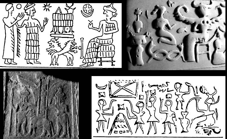 3a - Ningishzidda on top left, & his entwined serpants DNA symbol, Great Pyramid builder, etc., mankind has been ruled by royal bloodlines ever since the very beginning, & still ever present today, the royal bloodline of kings & queens of England, Jordan, France & all of Europe until recently, Muhammad & Ali, Blue-Bloods of America, & even the bloodline of Jesus through Mary Magdalene, is possibly being traced & secretly protected