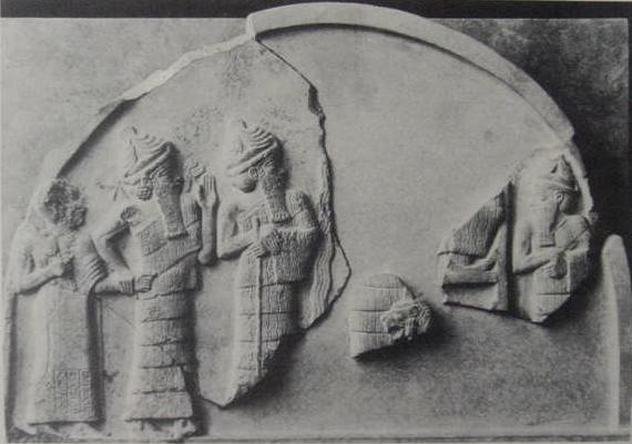 4da - King Gudea, mixed-breed son to Ninsun, Ningishzidda, son to Enki, leads Gudea by the hand  to the site of construction for repairs to the gods temples - houses, Dumuzi, the son to Ninsun & Enki, & Enki missing due to damage, artefacts of the gods & mixed-breed kings are shamefully being destroyed by Radical Islam, attempting to eliminate any ancient historical evidence that directly contradicts the teachings of their 7th century prophet, & the teachings of most every active religion today