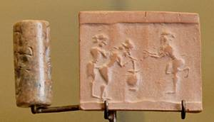 7c - Sumerian drinking with sex