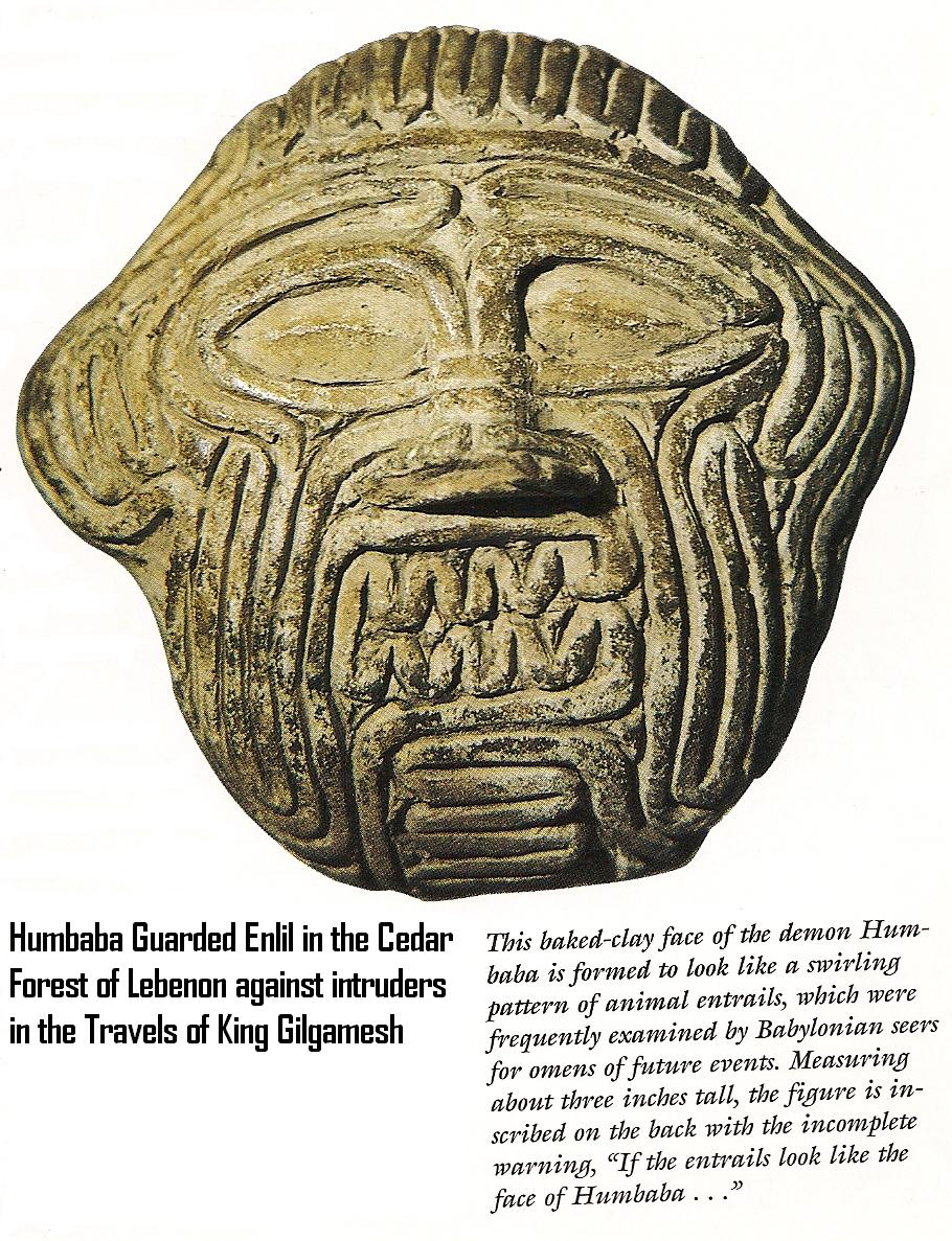 9a - Humbaba, the guardian of Enlil's Cedar Forests in Lebanon
