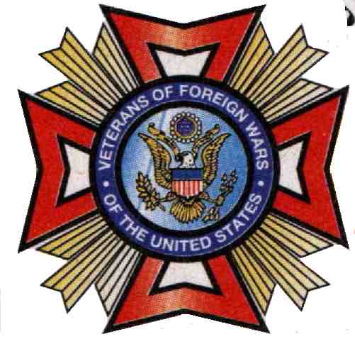 10a - VFW EMBLEM, Anu's 8-pointed star symbol, covertly used by Masonic leaders keeping the gods alive & present everywhere
