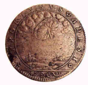 11 - 1680 A.D. French Medalian artefact depicting scene witnessed by French earthlings, large saucer hovered low in the skies, seen & recorded as witnessed by the French, the same story holds true throughout all of earthling history