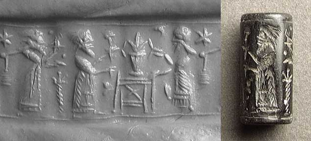 "11 - Noah, his spouse, Gilgamesh,  & the plant of life, Noah & wife give Gilgamesh the ""plant of life"", a present for his way home"