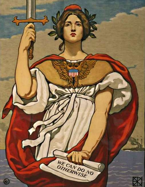 "11a - giant goddess Columbia & the US Navy, ""We Can Do No Otherwise"""