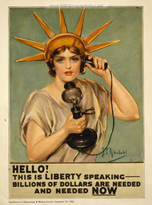 "11b - ""Hello this is Liberty speaking, billions of dollars are needed & needed now"", war drive"