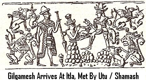 11b - Gilgamesh arrives at Itla, Gilgamesh meets Utu who helps him in his travels