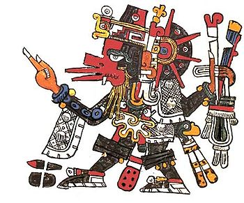 11c - Quetzalcoatl - Ningishzidda exiled from his brother's Egypt, moved to the Yucutan & established civilizations there for many years, the bearded god who came down from the sky to Meso-America