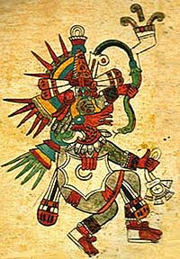 11d -Quetzalcoatl - Thoth exiled from his brother's Egypt, moved to the Yucutan & established civilizations there for many years, the bearded god who came down from the sky to Meso-America