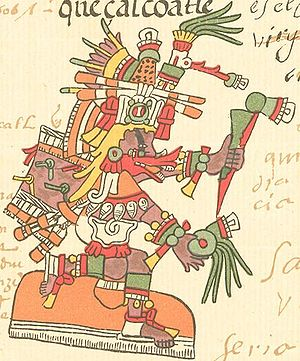 11e - Quetzalcoatl - Ningishzidda, god of knowledge, the bearded god who came down from the sky to Mesoamerica