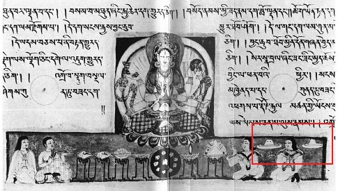 11i - Tibeten artefact, now in a Japanees museum, bottom right are alien discs hovering in the skies above, all religions have stories of beings - gods from the heavens