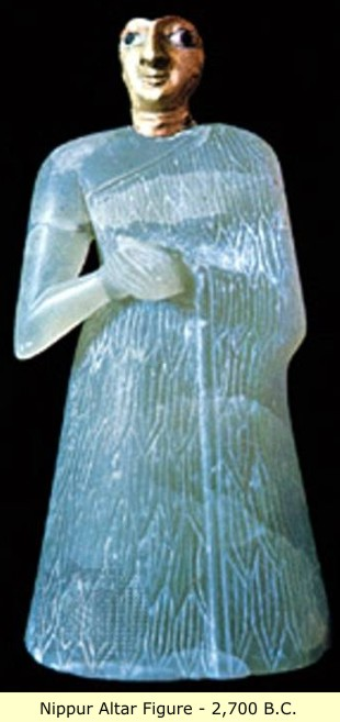 12 - Nippur artefact of an alter figure, artefacts are being destroyed by Islamic Radicals, trying to eliminate all historical knowledge, prior to, & contradictory to the doctrines of 7th century A.D. Islam