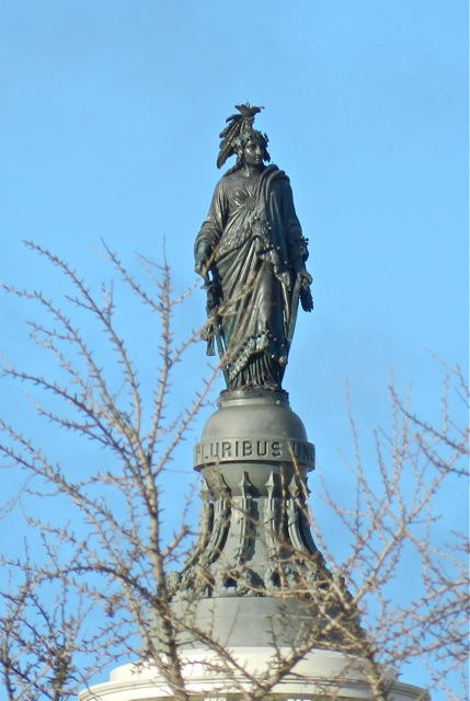 12 - goddess Columbia in District of Columbia, the heart of America dedicated to giant Inanna / Columbia / Liberty