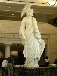 12c - plaster cast for Capitol statue of alien giant Inanna / Columbia / Liberty all throughout history, determining all civilizations, governments, & religions