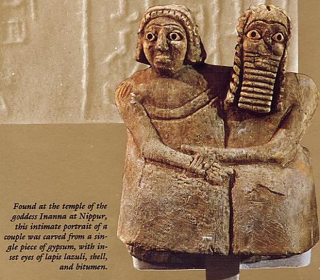 13 - Noah & spouse found at Temple of Inanna in Nippur, Nippur artefact from thousands of years ago, artefacts like these are being destroyed by Islamic Radicals, trying to eliminate all historical knowledge, prior to, & contradictory to the doctrines of their prophet