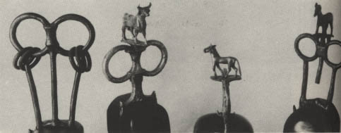 14h - chariot ornaments of gold, silver, & bronze 2,450 B.C., from Nannar's great metropolis of Ur, many firsts in many areas, such as the 1st schools, board games, etc., etc.