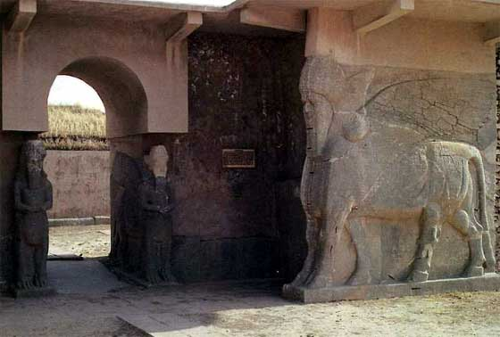 14m - Ashurnasirpal II Palace entrance, now criminally destroyed by Radical Islam, fearing that ancient knowledge of alien giant gods, if known today, would tear apart their religious doctrines, & loosen the hold over common men & women now held by their elite, corrupt, power brokers