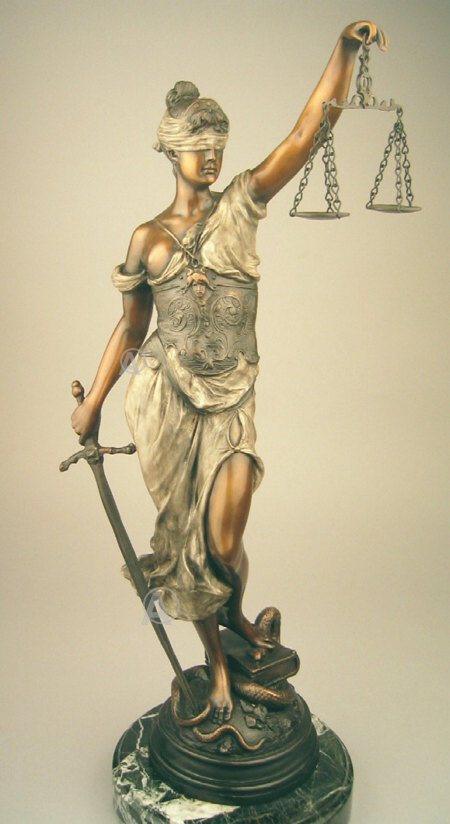 15 - goddess Columbia & the Scales of Justice, worshipped by US Supreme Court