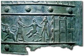 15s - Shalmaneser III artefact of cruel treatment of prisoners, proudly displayed power over enemies, the might of king & kingdom, cruelty seen imposed upon man by man for tens of thousands of years, these kings were directed by the uncaring alien gods