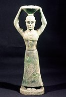 16 - mixed-breed king, bearer of offerings to eat for the gods, Uruk artefact 4,000 B.C., artefacts like this are being destroyed by Radical Islam, attempting to elimunate any knowledge of ancient history that contradicts the teachings of their prophet