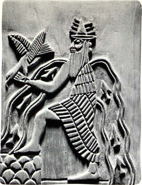 Enki, god of waters everywhere, Enki's life-giving waters symbol, god of the waters, wisest of all the gods on Earth