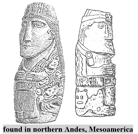17 - Ancient Northern Andes, Meso-America statues clearly depicting a European type faces of gods from long ago, not supposed to be there according to the traditionalists, the facts are the facts