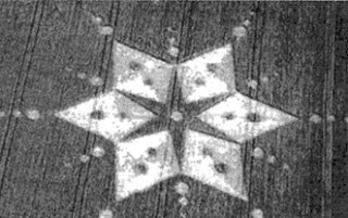 17 - Crop Circle, Nabu's 6-pointed star symbol of Mars, the 6-pointed star, was once Marduk & Nabu's domain of responsibility in shipping gold to Nibiru
