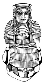 """1da - Bau-Gula, the administer of prisons, Bau held two major functions, one as the top medical doctor to the gods & the """"black-headed"""", the second was to be the warden of prisons for the """"black-headed"""" Earthlings"""