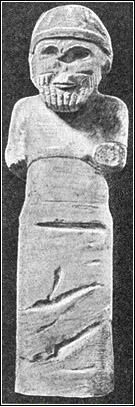 1g - statue of  Hadad - Adad, canal controller, alien god of thunder, nephew & spouse to Anunnaki King Anu's daughter Shala, the alien giants aged much slower than earthlings, 1 of their aging years equals 3,600 years aging on Earth, they seem as immortal gods to the earthlings, who served them as gods throughout the millennia