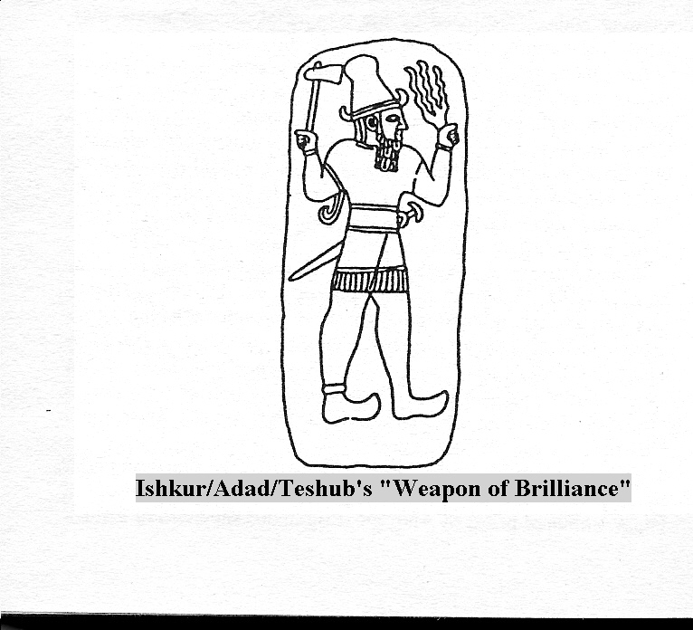 """1h - Adad's forked """"Weapon of Brilliance"""", even the Norsemen worshipped Adad as the god Thor"""