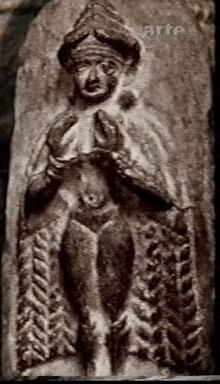 1 - Goddess of Love Inanna draped in a cape, loved by many gods & dozens of mixed-breed kings throughout early history