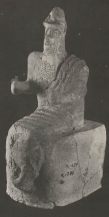 1z - ancient artefact statue of seated Enlil found in Nippur, his city & command post for Earth Colony, the place of destinies, Enlil was the bringer of the Great Deluge against earthlings