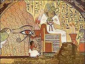 "2 - Eye of Horus found all over Egypt, reminding Egyptians for all time, that the giant alien gods came down to Earth, colonized it as their own, & fashioned ""modern man"" into their image, &  into their likeness, to become their replacement workers"