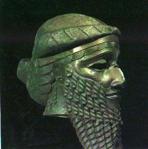 """2g - Sargon the Great of Akkad, giant mixed-breed spouse-king to Inanna, """"My mother was a high-priestess (mixed-breed), my father I knew not...My high-priestess mother concieved me, in secret she bore me.  She set me in a basket of rushes, with bitumen she sealed my lid.  She cast me into the river which rose over me.  The river bore me up, and carried me to Akki, the drawer of water..."""", SEE TEXTS ON KINGS UNDER MOST PAGES OF GODS"""