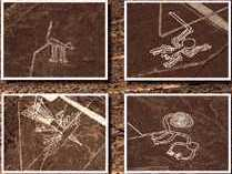 20 - Nazca Lines - Peru, Earth's animal figures carved on a very large scale, to be seen from the sky, no earthlings were flying any where near this time in history
