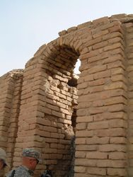 20 - Ur, first with archways, the mud brick-built, advanced civilization of Ur, Nannar's home in Ancient Mesopotamia