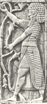 20 - ivory carved man, NImrod artefact of a time when the giant alien gods from planet Nibiru created man in their image, & in their likeness, to become the workers for the gods stationed on Earth Colony