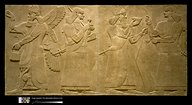 21 - Akkadian wall relief, winged alien pilot Apkulla, unidentified goddess, giant mixed-breed king, & unidentified goddess, possibly Ninhursag, a time in our forgotten past when the sons of god(s) came down to Earth, colonized it, settled in Mesopotamia, mined gold, etc., fashioned man in their image, & in their likeness to be their replacement workers, later had sex with daughters of men, producing giant offspring, appointed to kingships with authority over the earthlings, a perfect go-between