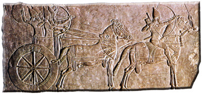 21m - King Ashurbanipal chariot, driver, & bowmen, the mixed-breed offspring were usually well protected throughout their reign by their ancestor alien giant gods, they prospered as much as was allowed by the gods, & the king all knew it, SEE TEXTS ON KINGS, this was the time in our long forgotten past, when the sons of god(s) walked & talked with earthlings, slowly teaching mankind the ways of the gods, to live & react according to the wil of the gods