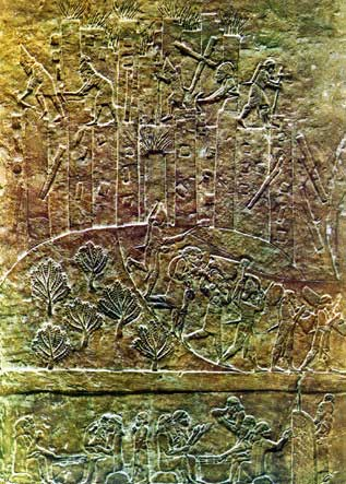 21q - Assyrian artefact of King Ashurbanipal's army capturing Hamanu Elam, depicting the destruction of the city, the carrying away of loot, & the enslavement of captives, just as if it were happening today, seemingly there are no differences to the way victors operate throughout history, only the US has ever conquered & left the seen in better shape than before their conquering of it, this is quite unique & costly to do, but it sure worked out well for the earthlings worldwide in WW I & WW II, & so on when copied