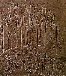 21r - Assyrian artefact of the destruction & looting of Susa by Ashurbanipal, last mixed-breed king of Assyria, when the gods decided that the reign of rule, or the city itself should be ended, it then was quickly ended, the Biblical tale of Soddom & Gomorrah is just such an example of the gods deciding life or death to certain earthling non-followers of this god or that one