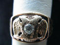 24 - Ninurta noted on Masonic Ring, Masons keep these Mesopotamian symbols of giant alien gods & mixed-breed earthlings current, hiding them in plain sight in governments, art, architecture, corp. logos, etc.