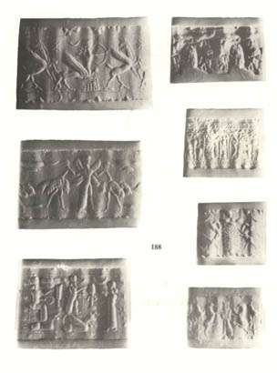 24 - Assyria cylinder seal, artefacts of the giant alien gods, depicting historical scenes of their deeds on Earth Colony, these relics give us a clear picture of life for earthlings in the beginning, when the gods fashioned modern man in their image, & in their likeness to be their replacement workers, then later the sons of these gods had sex with the daughters of men, their offspring were taller, stronger, faster, smarter, & lived longer than earthlings