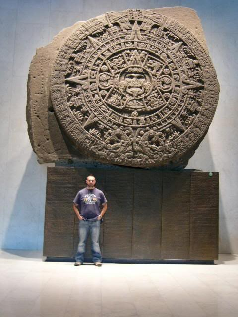 25 - Aztec calendar created by Ningishzidda for the Aztec nation as a historical guide, astrological clock, etc., a fantastic ancient artefact with high-tech calculations & historical information that no earthling could have had, no earthling could have produced this complicated wonder