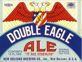26 - Double-Headed Eagle Beer Label, Mason owned company, Masons keep these Mesopotamian symbols of giant alien gods & mixed-breed earthlings current, hiding them in plain sight in governments, art, architecture, corp. logos, etc.