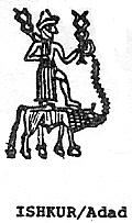 2a - Ishkur - Adad upon Taurus the bull, god Adad, his forked weapon exhibited mighty lethal alien capabilities
