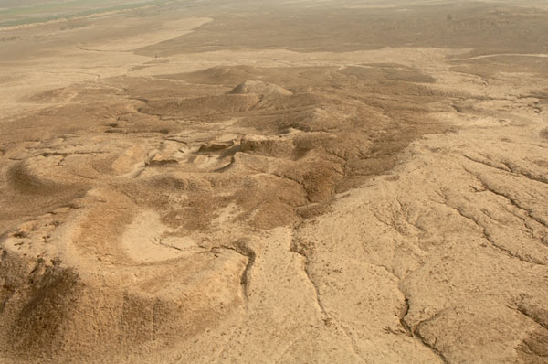 "Lagash areal view, after Noah's Flood Lagash was re-built, & then abandoned later due to ""Evil Winds"" from nuclear blasts"