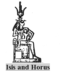 2b - Isis & baby Horus, Horus, miracle son, thanks to Ningishzidda, born to the deceased Osiris & living Isis, the Queen of Egypt, by way of artificial insemination performed by the DNA god Ningishzidda - Thoth