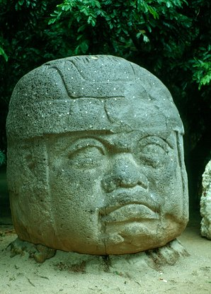 2b - Olmec head artefact, possibly a king's head, hundreds of Olmec heads have been discovered so far, kings carved in succession, Olmec's are black Africans shipped to the Yucatan by Ningishzidda due to his expulsion from Egypt by his brother Marduk, the 1st earthlings to inhabit So. America, as dislpayed by Sitchin in the Mexico City Museum